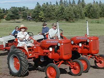 Dancing tractors.