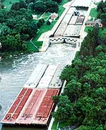 Mississippi River lock