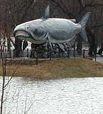 Catfish statue in Wahpeton, N.D.