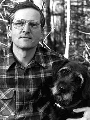 Author Peter Leschak and his old dog, Boldirev. (Photo courtesy of Peter Leschak)