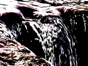 Rushing water. It's one of the images MCAD students are using in their multimedia installation. (Photo courtesy of Minneapolis College of Art and Design)