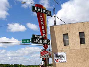 Ralph's, a bar in Moorhead, is one of the many establishments which would have to ban smoking under an ordinance passed by the city council. It is scheduled to go into effect Sept. 1. (MPR Photo/Bob Reha)