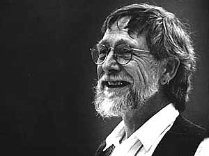 Gary Snyder falling from a height holding hands