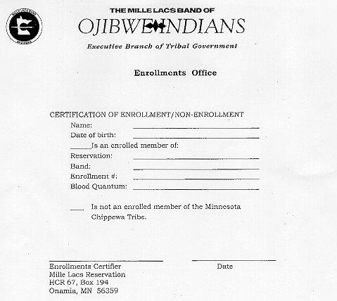 MPR: Sample enrollment certification form